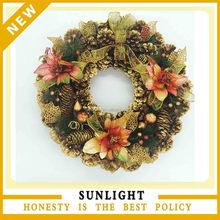 wholesale factory traditional merry Christmas wreath for home decor