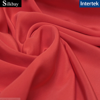 14mm plain dyed 100% silk crepe fabric
