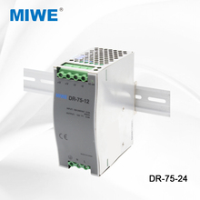 CE RoHS approved DR-75-12 single output 75w 24v din rail power supply