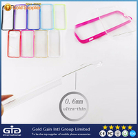 [GGIT] Transparent Ultra Thin PC Case for iPhone 6 with Colored TPU Bumper