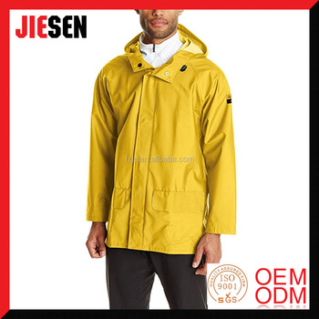 High Quality Durable Waterproof Workwear Men's PVC Polyester Raincoat