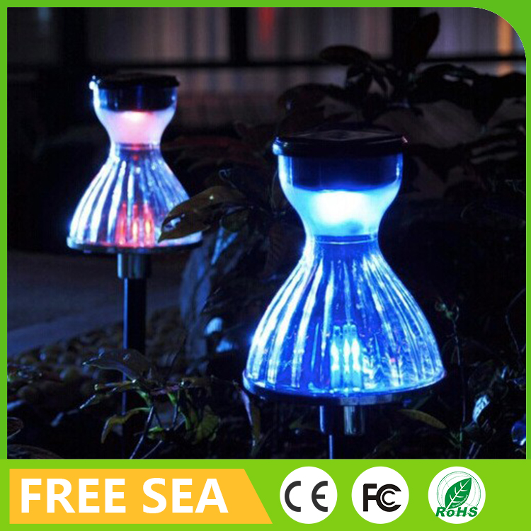 Outdoor Solar LED Landscape Garden Wall Yard Pond Flood Spot Light Solar Led Lawn lamp