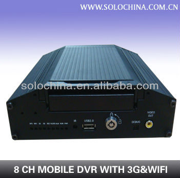 Factory directly 8 channel wireless car black box for school bus double decker bus