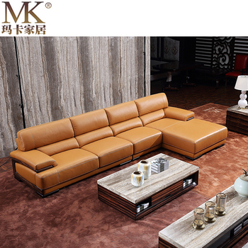 Canape Modern Leather Sofa Set Designs Small Corner Heated L Shape Sofa Set  and Chaise, View italian sofa factory direct, MAKA SOFA Product Details ...