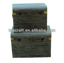 2013 solid paulownia wood chest with metal clasp