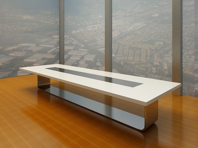 Modern white meeting table luxury conference table for High top table designs