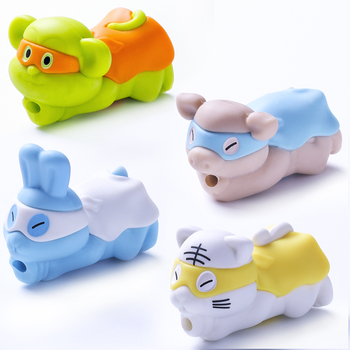 2019 For iPhone Cute Cartoon Silicone USB Charger Cable Protector Cable Animal Bite