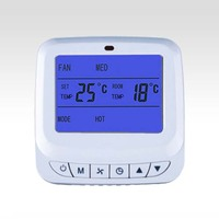 Detective and display room temperature LCD screen Intelligent FCU thermostat