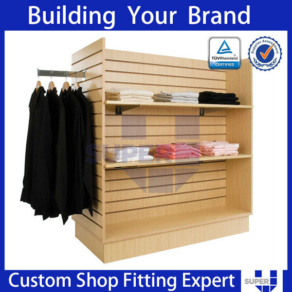 unisex clothing stores,wooden Display Showcase, Pop Units Clothing Store for commercial display