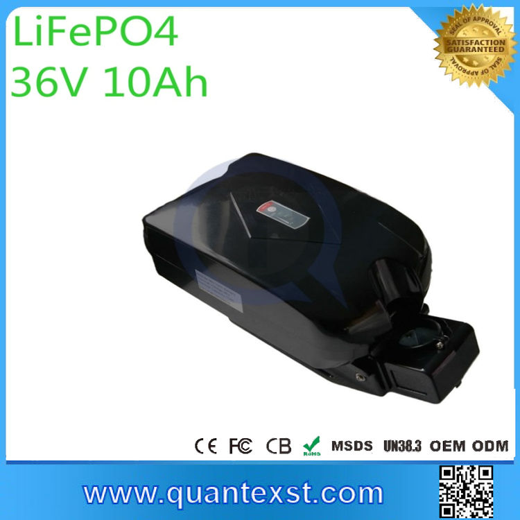 Best selling top quality lifepo4 battery price 36v electric bike battery frog style e bike battery 36v
