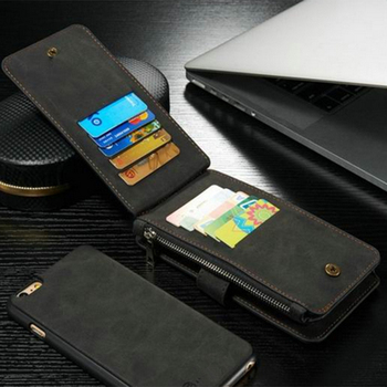 Genuine Leather Card Holder Wallet Case Magnetic Flip Cover Stand For Apple iPhone 6S
