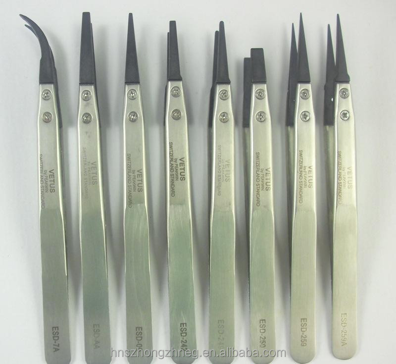 Professional Manufacturing Cleanroom ESD/Conductive plastic tweezer