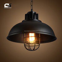 loft retro industrial iron vintage ceiling light chandelier pendant lamp
