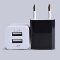Universal USB Wall Socket AC110-220V EU/US Wall Socket 2 Port 2A USB Outlet Power charger for cell phones