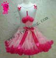 Soft Chiffon Baby Christmas Skirt With Cute Bow Baby Birthday Tutu Dance Party Pettiskirt