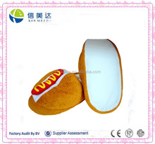 High quality hot dog food indoor emoji slippers