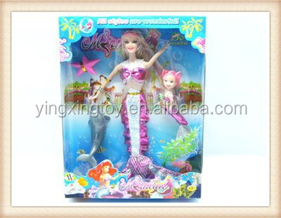 plastic little sea maid mermaid doll