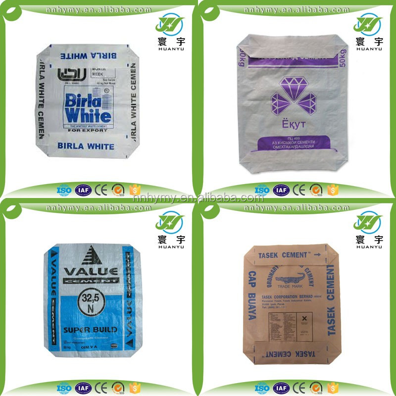 Portland cement bag price cheap PP AD STAR bag with brown color