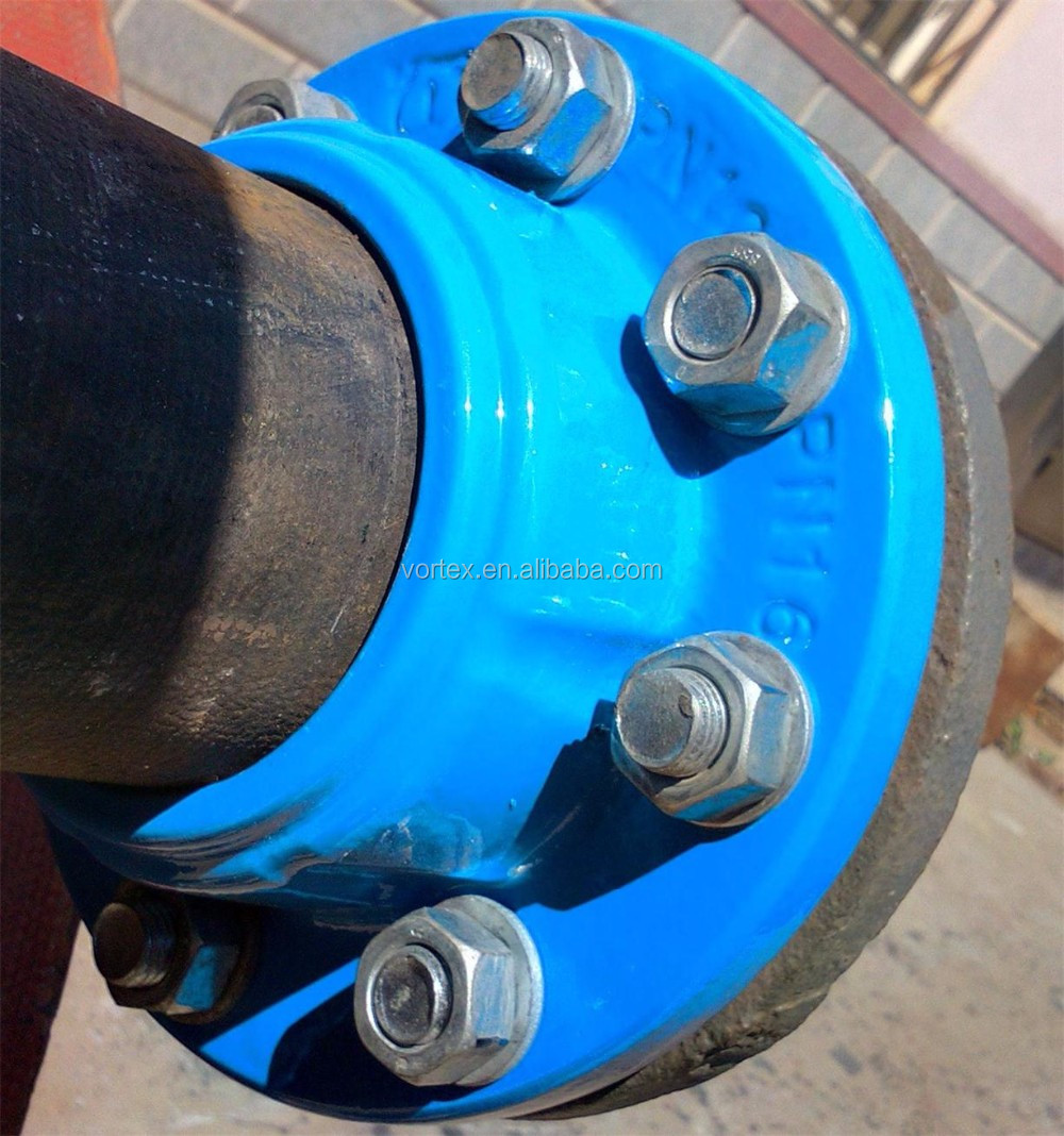 Quick flange adapter for HDPE pipe