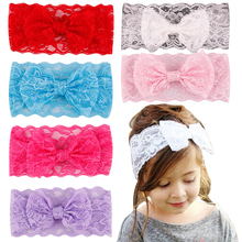 Baby Girls Cute Bowknot Hair Band Accessories Lace Headband For Kids