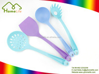 Best selling stainless steel silicone plastic kitchenware gadgets cooking accessories tools set colorful nylon utensils