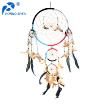 Wholesale Supplies Cheap Handmand Home Decor Indian Feathers Dream Catcher