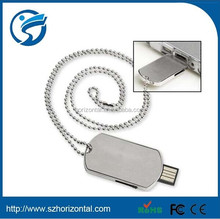 Fashionable Army Dog Tag USB 2.0 Flash Drive 2GB,promotion usb flash sticker,army usb flash drive