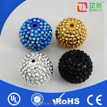 2014 rhinestone factory wholesale shamballa beads