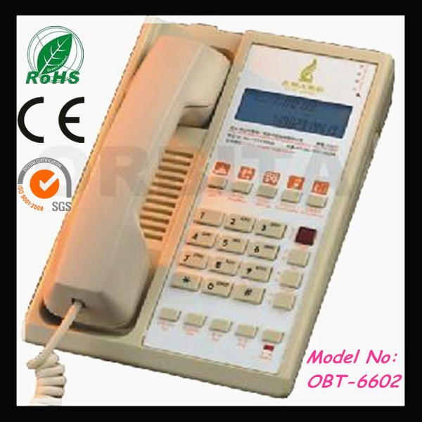 Hotel telephone with guest service buttons,message waiting& incoming call indication