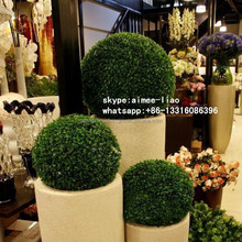 Q122607 artificial topiary tree evergreen boxwood ball making artificial hedge topiary