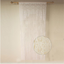 Sexy Decorative Polyester Stripe Lace String Door Window Curtain