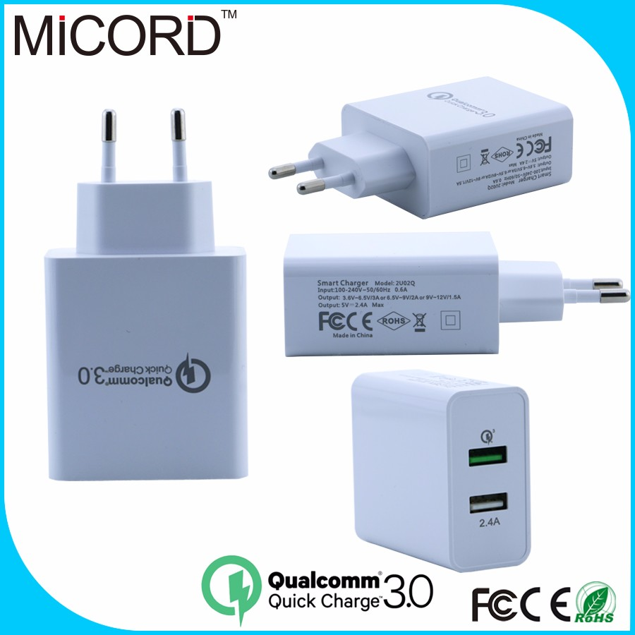 2016 New Arrival Qualcomm Quick Charge 3.0 super fast mobile phone charger for cell phone
