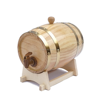 1.5 Liter Used Wine Barrel Solid Pine for Whiskey, Wine, Rum, Bourbon, Tequila and Beer