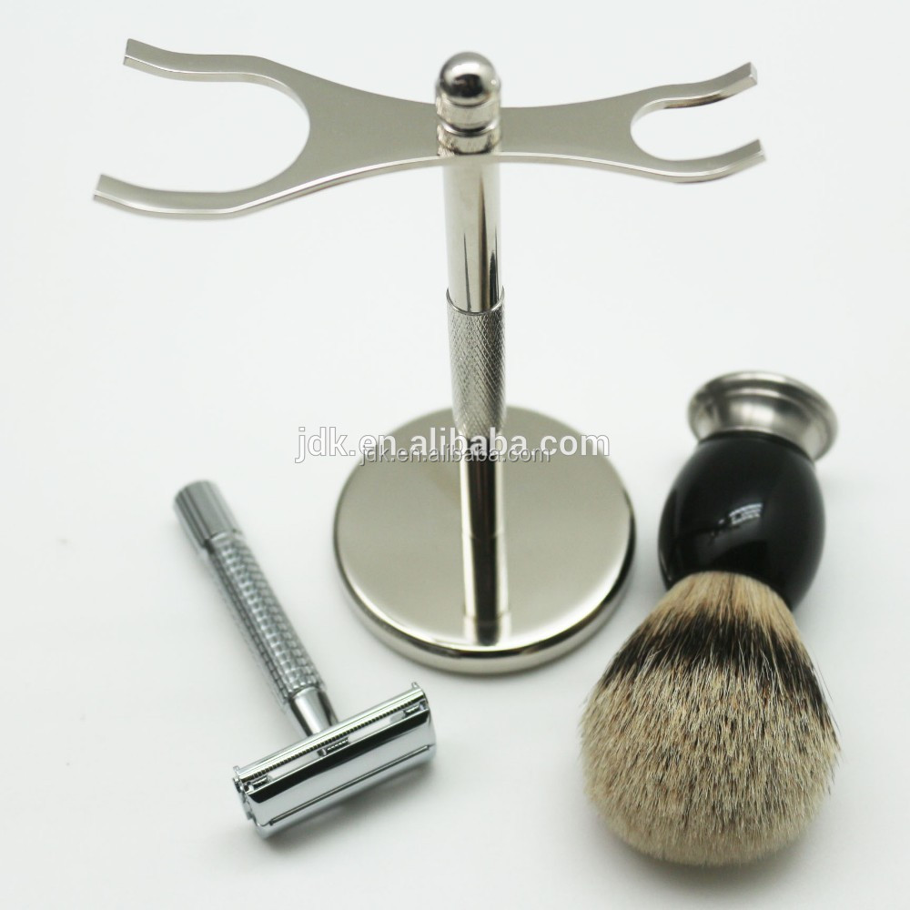 Top Grade Badger hair wholesale Shaving brush kit private logo Top Luxurious shaving set for men
