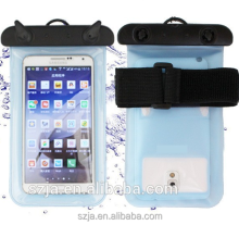 Universal tuba PVC Waterproof Pouch Bag for iphone samsung smartphone diving and swimming mobile phone arm pouch with Lanyard