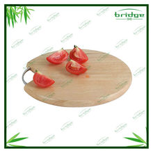 Round bamboo pizza cutting board