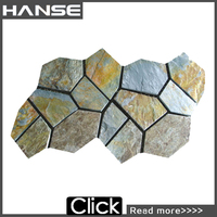 HS-WT112 Guangdong in stock nature stone hexagon tile green