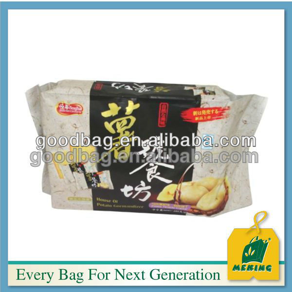 stand up snacks plastic bag flexible packing with zipper