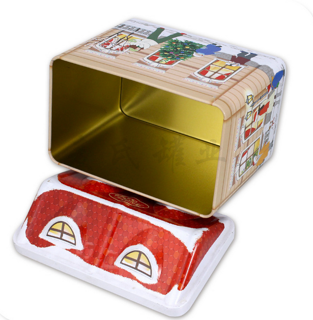 New Christmas Theme Gift tin box New Year Gift Tin Box For Packing Tin Box Gift Tin Box