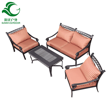 Outdoor Furniture Patio Cast Aluminum Garden Table And Chair