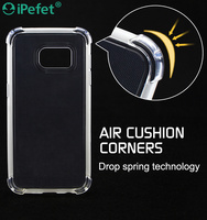 Crystal Clear Air Cushion Soft Flexible Shockproof TPU Case For Samsung Galaxy S7,for iPhone,for Huawei P9