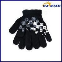 HZS-13239003 new design and cute fashion baby boy print warm magic hand softening glove