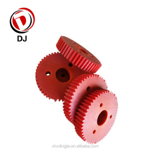 High performance cnc machining helical nylon gear wheel