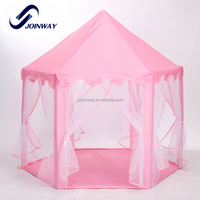JWS-039 Hot sale indoor pvc pipe frame girls princess castle kid play tent