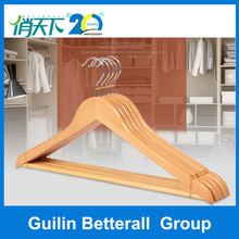 Wholesale hot sale luxury high quality hotel or garment use wooden suit coat shirt clothes cheap wooden clothes hanger parts