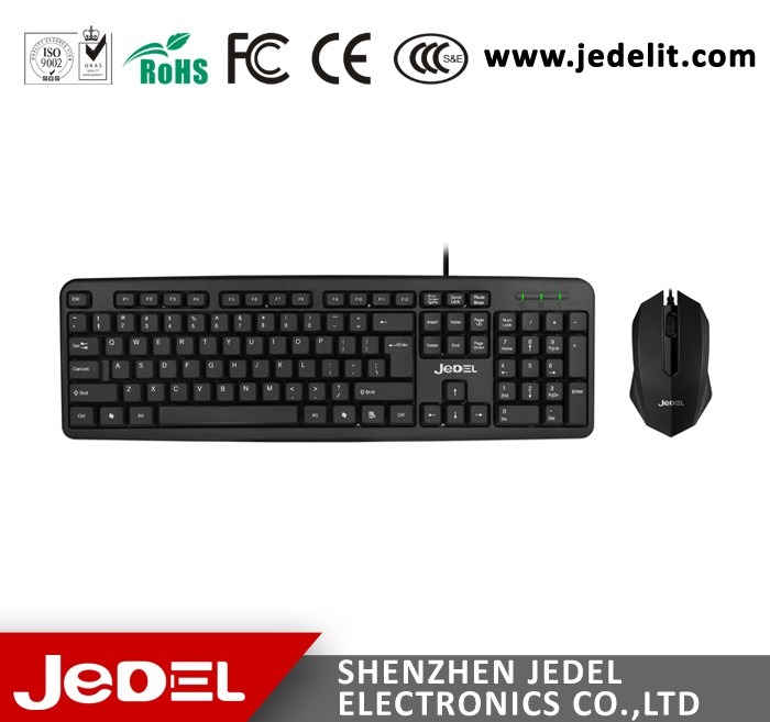 Factory Promotional Preferential Price Stock Wired USB Mouse Keyboard Combo For Laptop