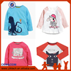 New Fashion autumn brand cute Baby Clothes print Dog Long Sleeve one-stop company Cute kids T-Shirts Basic Cotton shirts