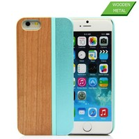 Colorful Bamboo Wooden case/Wood Mobile Phone case for Iphone 6/for iphone 6 case wood