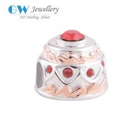Fashion Jewelry 925 Sterling Silver European Beads Birthday Cake Model