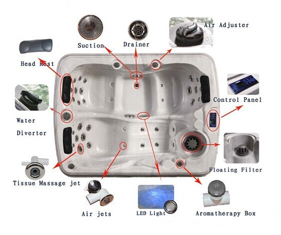 Factory 2014 New 1 to 2 person indoor hot tub /Mini hot tub